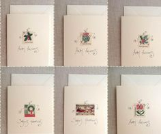cards using Christmas stamps