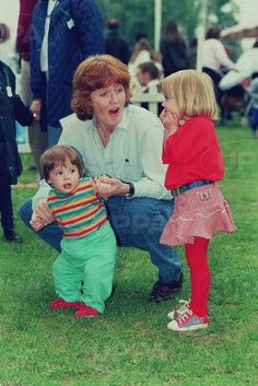 Princess Eugenie and Princess Beatrice with the Duchess of York
