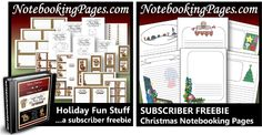 Notebooking Pages Christmas Freebies, Sale, and Giveaway