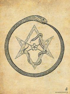 Ouroborus and Hexagram | Flickr - Photo Sharing!