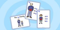 These posters are a brilliant visual representation of the 'ng' sound family - with different posters to show the different letters that make up the sound 'ng', these will make a great addition to your display!