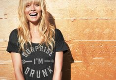 surprise i'm drunk graphic tee.  (style, fashion, humour, cute)