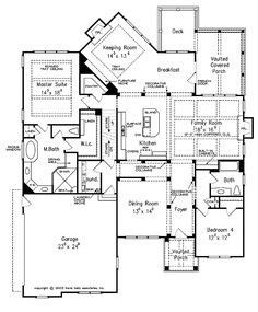 House plans on pinterest floor plans house plans and for House plans with keeping rooms