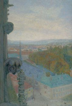 Nancy, View of the Cathedral, Saint Eprve (Autumn), 1906, Michel-Auguste Collé. French (1872 - 1949)