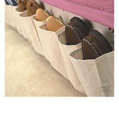 great shoe storage idea for a camper