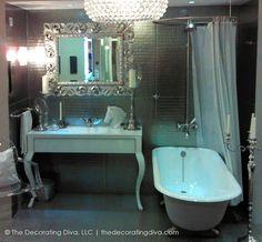 Hollywood Silver Screen Starlet Bathroom | The Decorating Diva, LLC