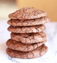 Double Chocolate Truffle Cookies........Stuffed with Peanut Butter - Half Baked Harvest