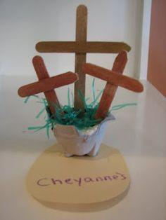 cross craft original link..Jesus dies for us on the cross