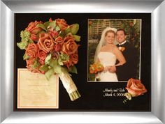 Freeze dry wedding bouquet, with invitation and photo . . . Wedding Bouquet Preservation - Preserve Wedding Flowers