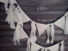 6 ft garland canvas banner  cotton strips 10 flags by endulzar, $10.00