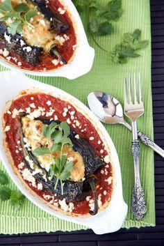Roasted Shrimp Poblanos Rellenos Recipe