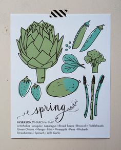 Never wonder what's in season again!  These beautiful prints are designed not only to look beautiful in your home, but also as a great quick-reference resource that will help you and your loved ones to eat seasonably and locally.