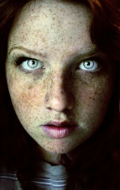The magic in the eyes... the beauty of each and every freckle... A true rare angel from the skies... ~bl~