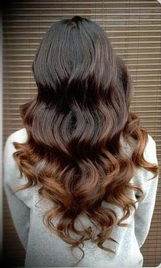 Or, there's the reverse red-head. Brown usually has hints of auburn in it, so play them up with beautiful reddish-brown ends.