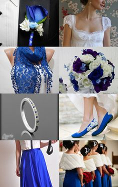 I think this is the color blue I want...cobalt  <3 Cobalt Blue Wedding <3 by ScarfClub on Etsy