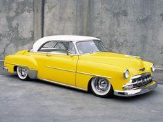 vintag car, 1952 chevi, classic car, vintage cars, color