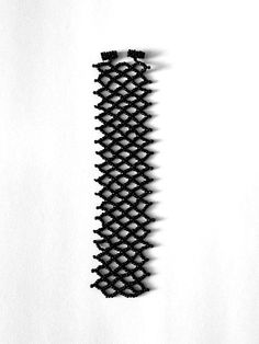 Black netted seed bead bracelet