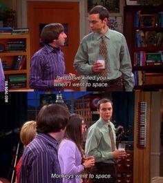 Monkeys went to space Sheldon Cooper
