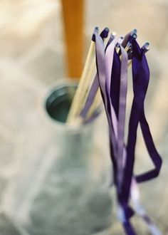 purple ribbon wands | Scott Andrew Studio