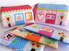 cute little house pouches.