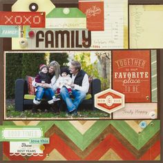 Adorable layout using Close Knit Collection