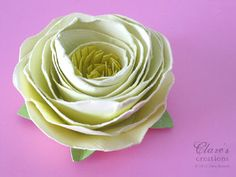 SHABBY ROLLED SPIRAL FLOWER TUTORIAL (LOTS OF PHOTOS!)
