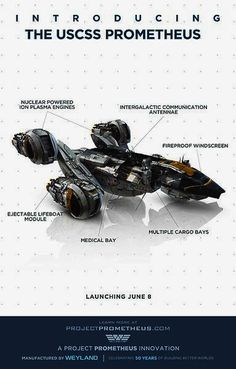 The USCSS space ship Prometheus