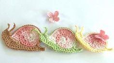 Snails for decorating purses, towels, etc