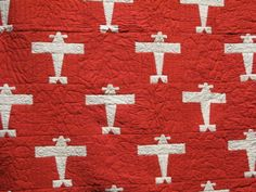 Quilt Inspiration - Airplane pattern from American Folk Art Museum's satellite installation, Infinite Variety: Three Centuries of Red and White Quilts
