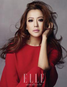 smokey eyes: Kim Hee Sun by Kim Youngjun for ELLE Korea Mar 2012