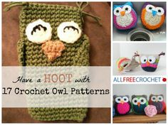 Holy m-OWL-y, these crochet owl patterns are cute.