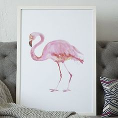 Framed Bird Wall Art  Flamingo