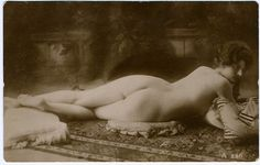 EROTIC EARLY 1900'S SEPIA TONED NUDE RISQUE REAL PHOTO RPPC POSTCARD GORGEOUS | eBay