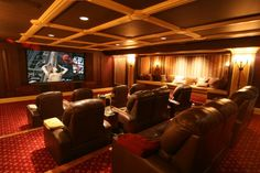 Media room, just add in movie posters lining the walls
