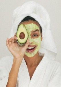 Pinner says-Tried this Avocado & Egg-white Mask last night with Taylor. Added a tablespoon of honey. It made my skin so even she told me it looked like I had concealer on! :) Score!