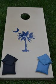 South Carolina palmetto tree and moon corn hole board