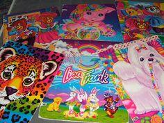 90's Lisa Frank school supplies