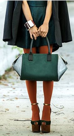 adorable bag and tights