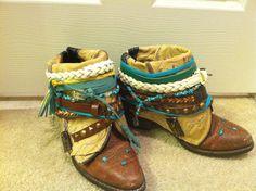 Boho Boots. $70.00, via Etsy.