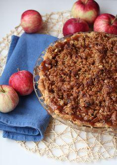 Caramel Apple Streusel Pie - Bake.Eat.Repeat.