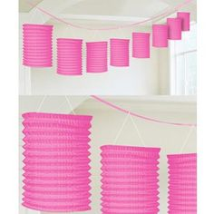 Party Lantern Garland - Pink - $14.95 See more at  http://myhensparty.com.au/