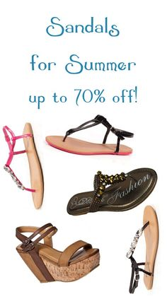 Sandals for Summer ~ up to 70% off!  {$6.99+} #sandals