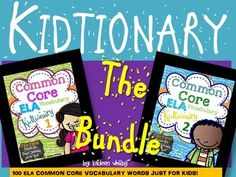 "This set includes part 1 and 2 of my ""Kidtionary"" Please look at the sets individually to get an idea of what is included. Includes 100 common core vocabulary words and instructions of how to create the books for your students. The book is numbered and in alphabetical order."