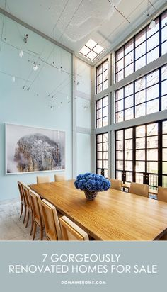 Real Estate Envy: 7 Gorgeously Renovated Homes // real estate, dining rooms, architecture