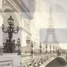 Paper House Productions - Paris Collection - 12 x 12 Paper - Paris Collage at Scrapbook.com $0.69