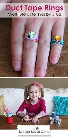 How to Make Duct Tape Rings. A Fun and Easy Kids Craft taught by a kid! So cute:-)