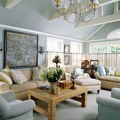 blue living room - 9