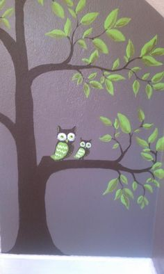 Baby room Green Owls