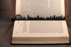 London+City+Silhouette+Black+Laminated+Bookmark+by+ifindmyplace