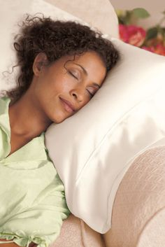 """Anti-Wrinkle Pillowcase  For centuries, Chinese women have known that sleeping on a silk charmeuse pillowcase can help prevent facial lines, wrinkles, and the dreaded """"bed head."""" Now you can enjoy the same benefits with our exquisite silk pillowcases. In soft shades of lake, blush, celadon, bisque, champagne or mauve."""
